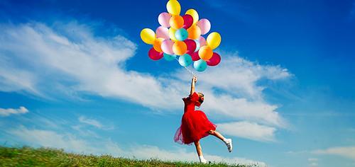 Повітряні кульки дівчинка