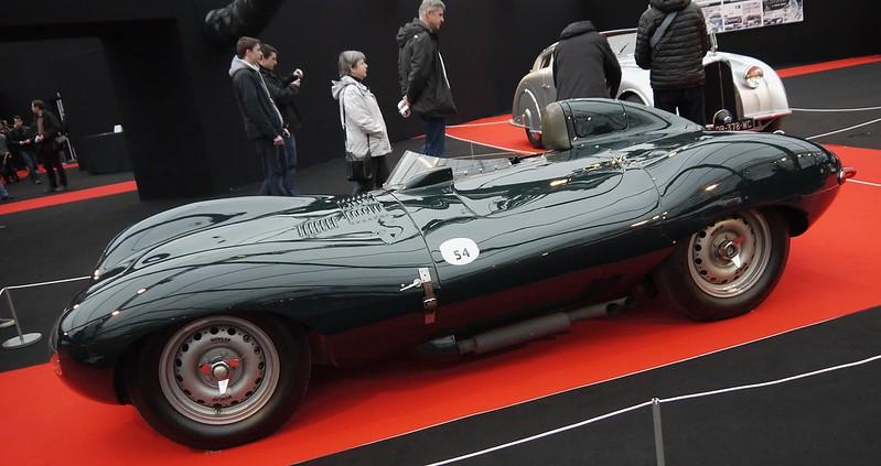 Jaguar type D 1954 - Paris Invalides Fev 2017 31939056753_c32f11bba9_c
