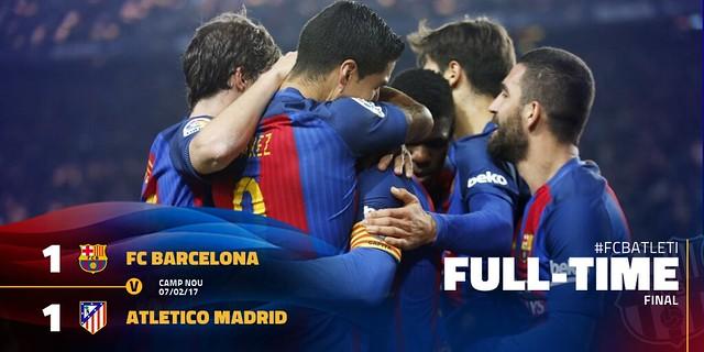 Copa del Rey - Semifinales (Vuelta): FC Barcelona 1 - Atlético de Madrid 1 (3-2)