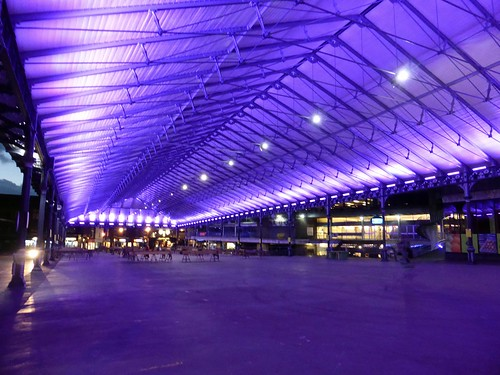 Purple covered market