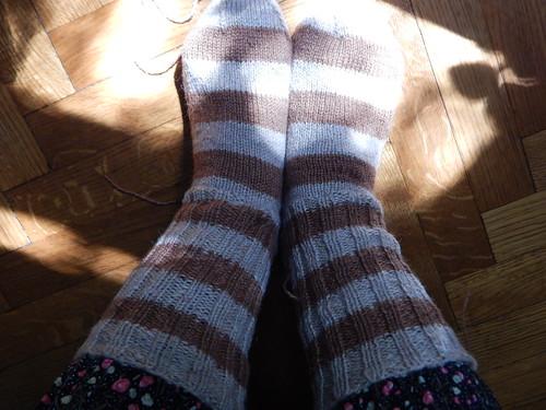 полосатые носки с пяткой задним числом | Хорошо.Громко.