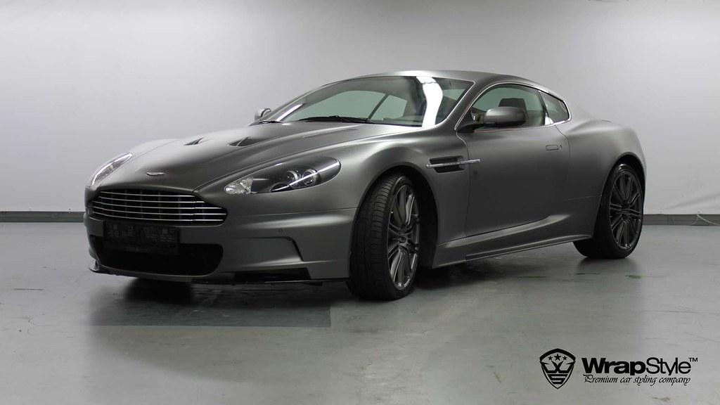 Aston Martin Grey Dbs 01 Wrapstyle Car Wrap Foil Wrapstyle Company