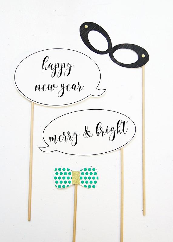Printable Glasses Speech Bubble Tie Props