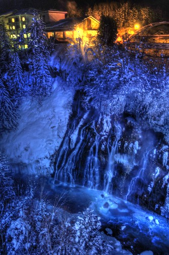 The Shirahige Waterfall of Biei in evening on JAN 07, 2017 vol01 (1)