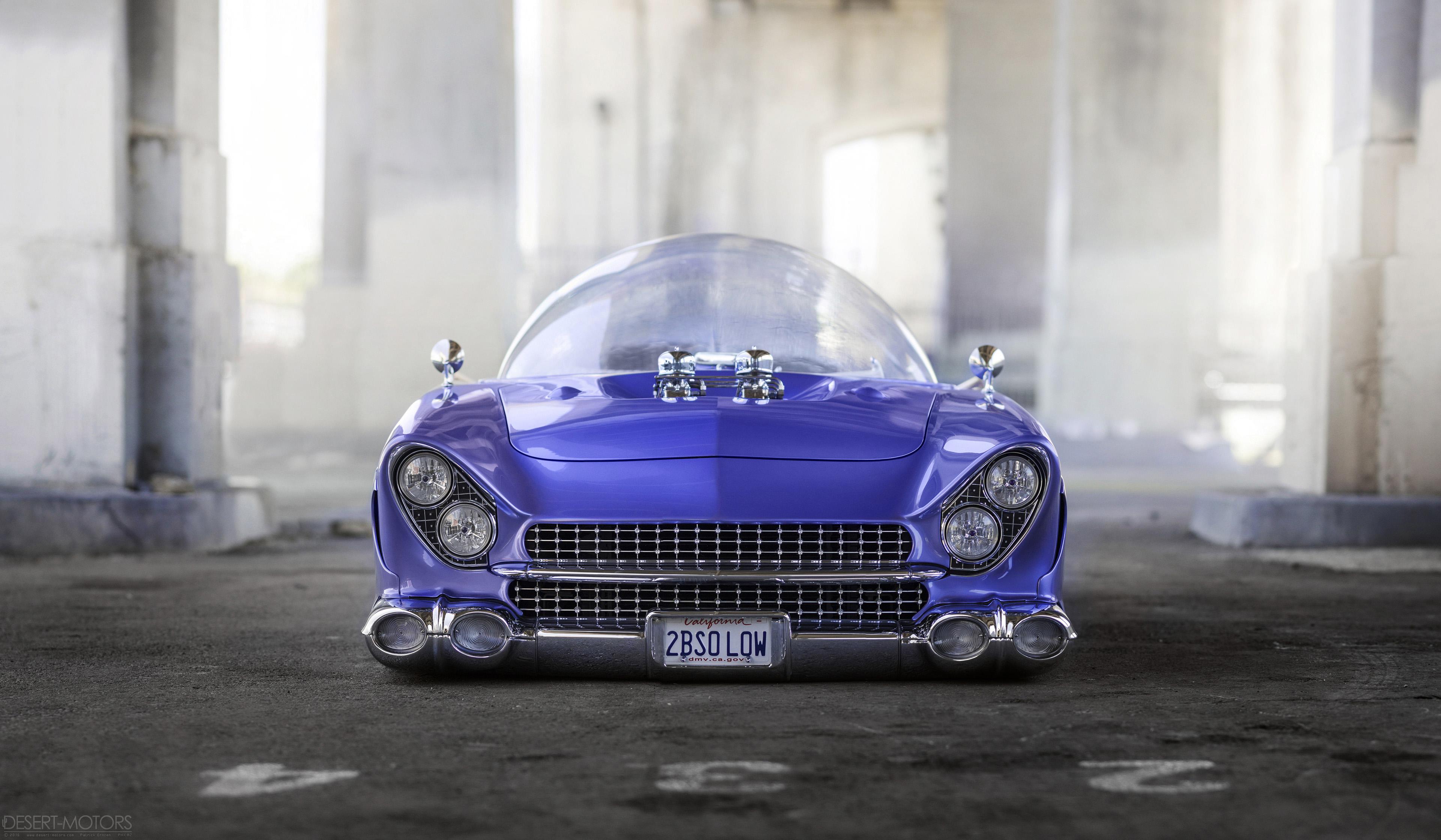 Retrofuturism 55 Ford Beatnik Bubbletop Custom Oc