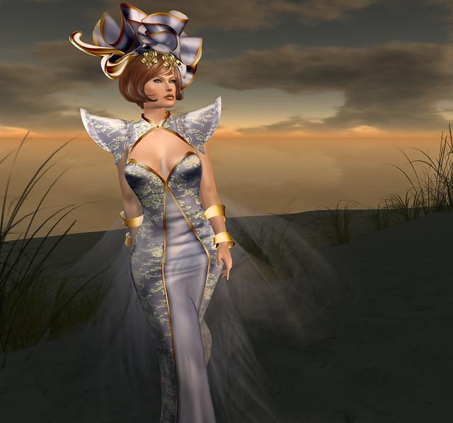 Talissah gown, Iolite, Azul
