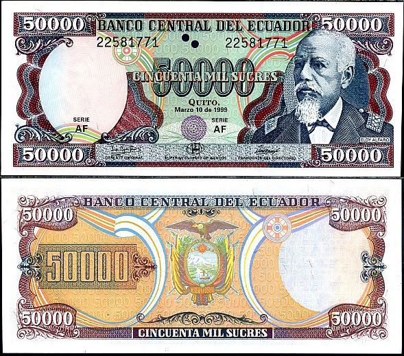 50 000 Sucres Ekvádor 1995-1999, Pick 130