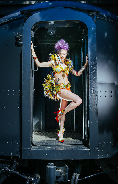 Photo- Trask Bedortha  Dress - Ariana Schwartz - Hair - Gwynne McLaughlin - Studio Mantra Make up art - Marisa Shute - 17