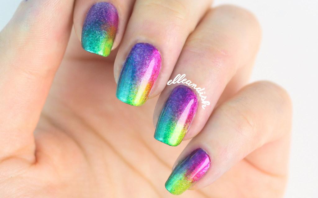 Rainbow Quartet Chrome Nails Elleandish Flickr