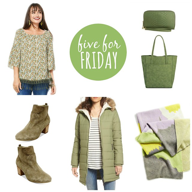 five for friday pantone 2017 greenery finds | Style On Target blog