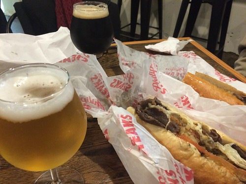 Philip's cheesesteaks and beer at ARS Brewery