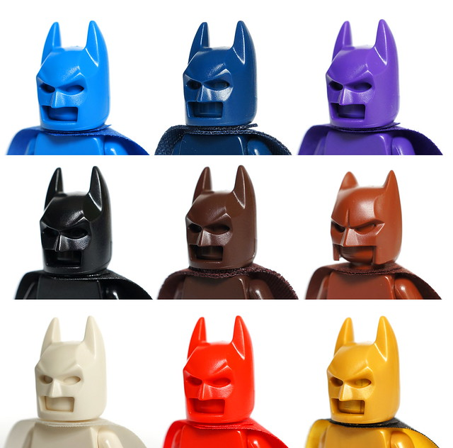 LEGO Batman monochromes