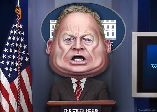 Sean Spicer - Caricature