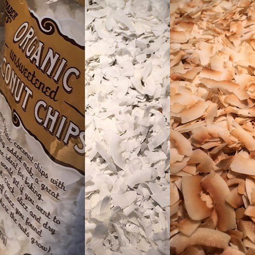 home-toasted coconut chips for Kauai Tropical Stout