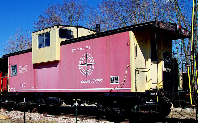 Dt Amp I Caboose Once Pulled By The Long Abandoned Detroit