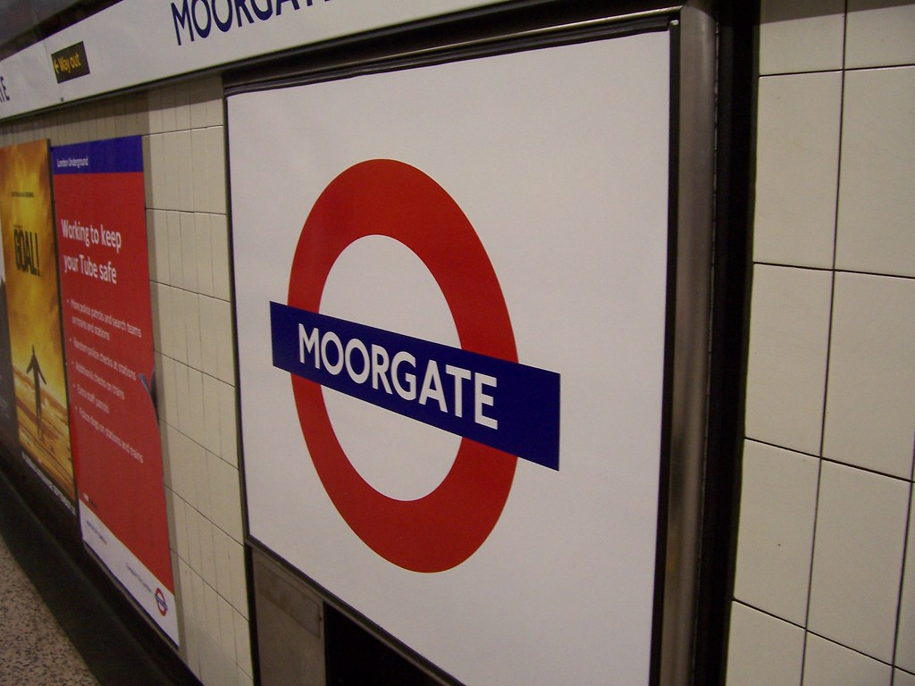 Image result for moorgate station roundel