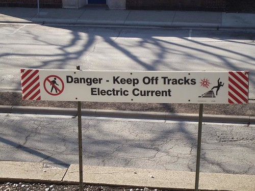 Danger - Keep Off Tracks Electric Current | by Digital Sextant