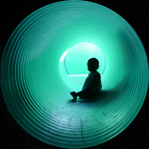 Turquoise Tunnel Silhouette | by monkeyjunkie