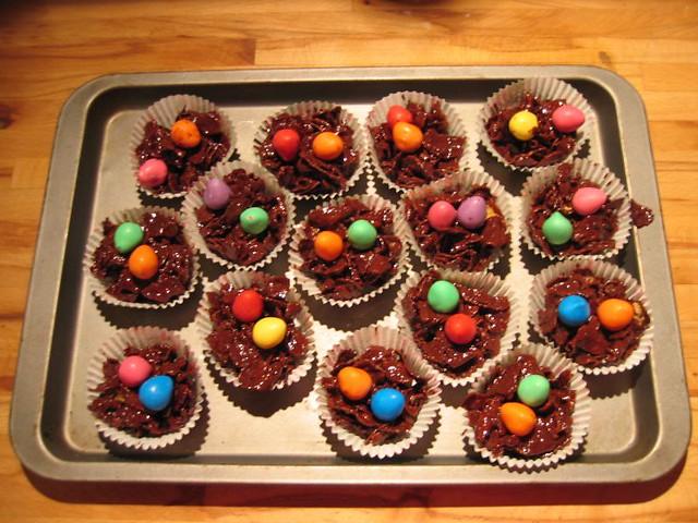 Chocolate Cornflake Cakes With Marshmallows