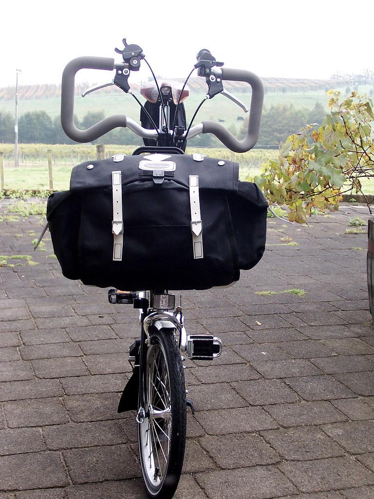 Carradice Saddle Bag On Brompton Pannier Frame My