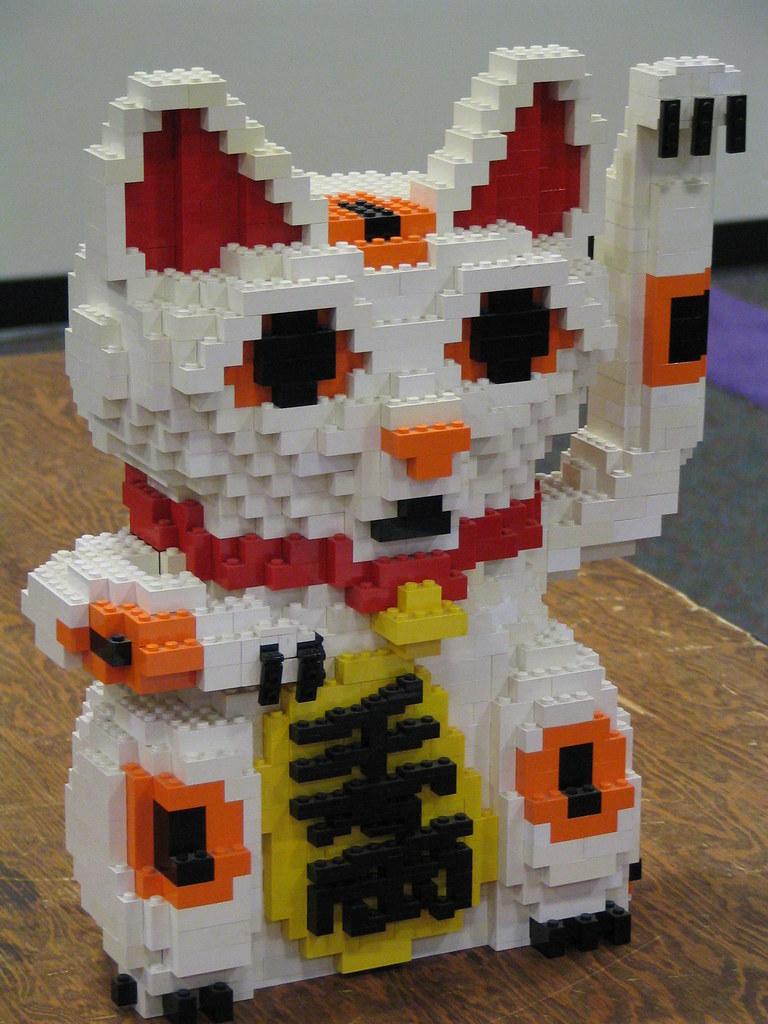 LEGO Maneki Neko Peter Kaminski Flickr