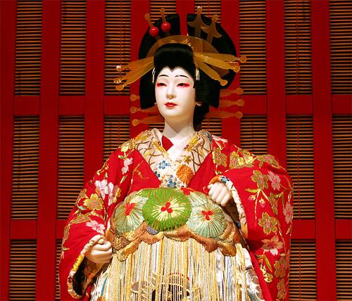 Japanese kabuki kabuki sculpture at edo museum tokyo for Traditionelles japan