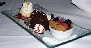 Lemon meringue pot, El Rey chocolate cake, creme brulee ...