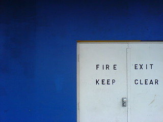 Exit Keep Clear Fire | by iNkMan_