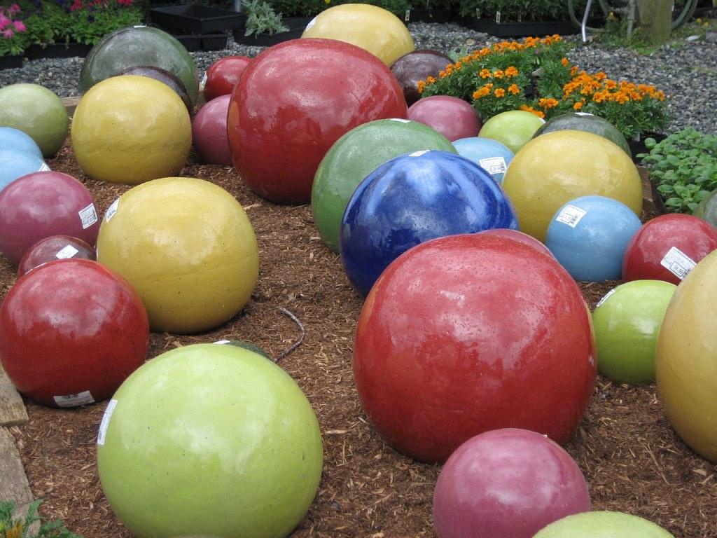 Ceramic Garden Balls | Christine Morgan | Flickr