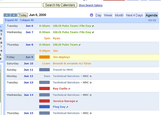 google calendar agenda view i really don 39 t use this feat flickr. Black Bedroom Furniture Sets. Home Design Ideas