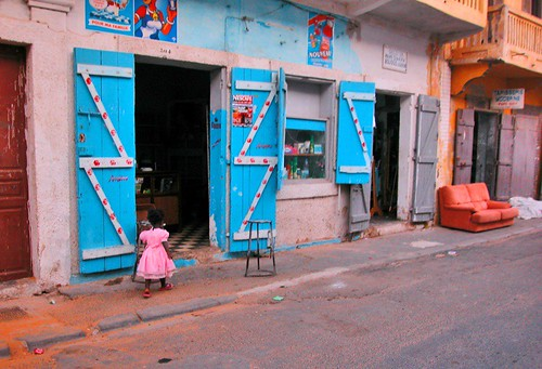 Little girl wearing pink in Senegal