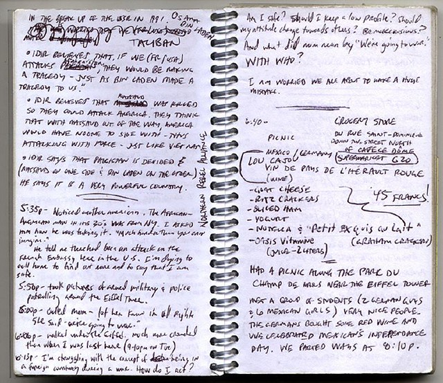 2001 Europe Journal 1 - writing example 2 | I have provided … | Flickr