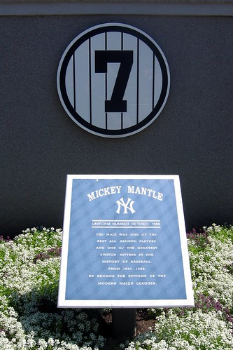 Yankee Stadium Monument Park Retired Numbers Mickey M