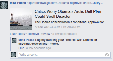 occupy democrats obama arctic drilling