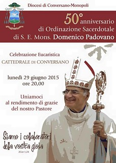 Conversano- 50 anni sacerdozio vescovo Padovano