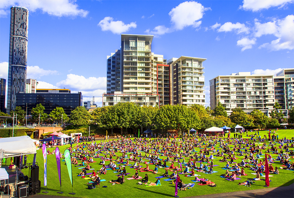 International Day of Yoga in Brisbane, Australia