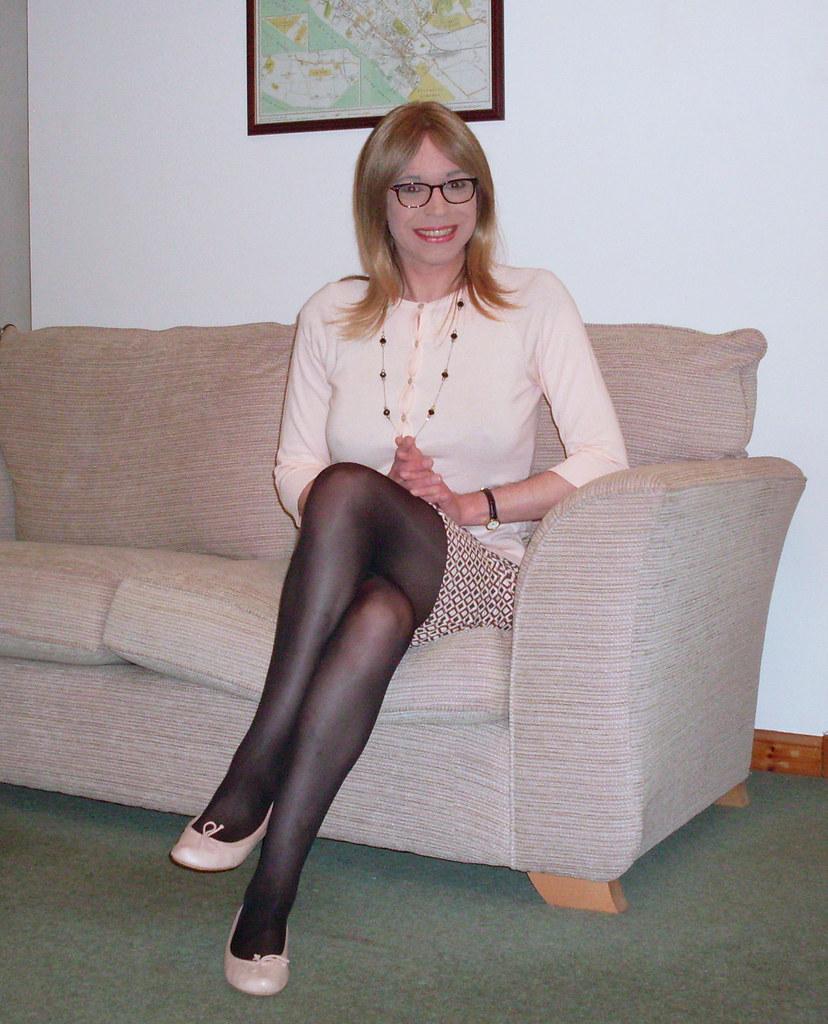 Pantyhose and flats bbc footjob shoejob 3