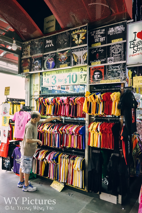 Singapore 2016: Bugis Street Bazaar - Wall Of Clothes