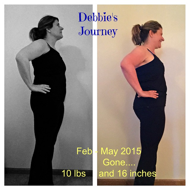 July Challenge before and after