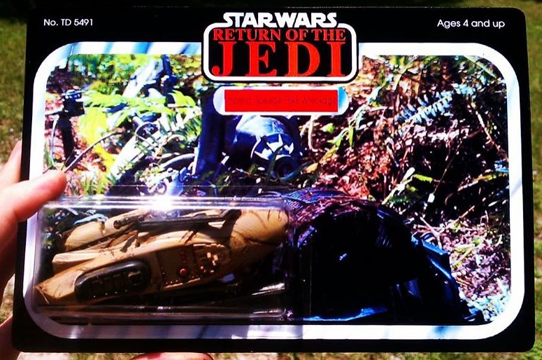 Custom Star Wars action figures by TD 5491 Phenix Customs - Speeder Bike Wreckage