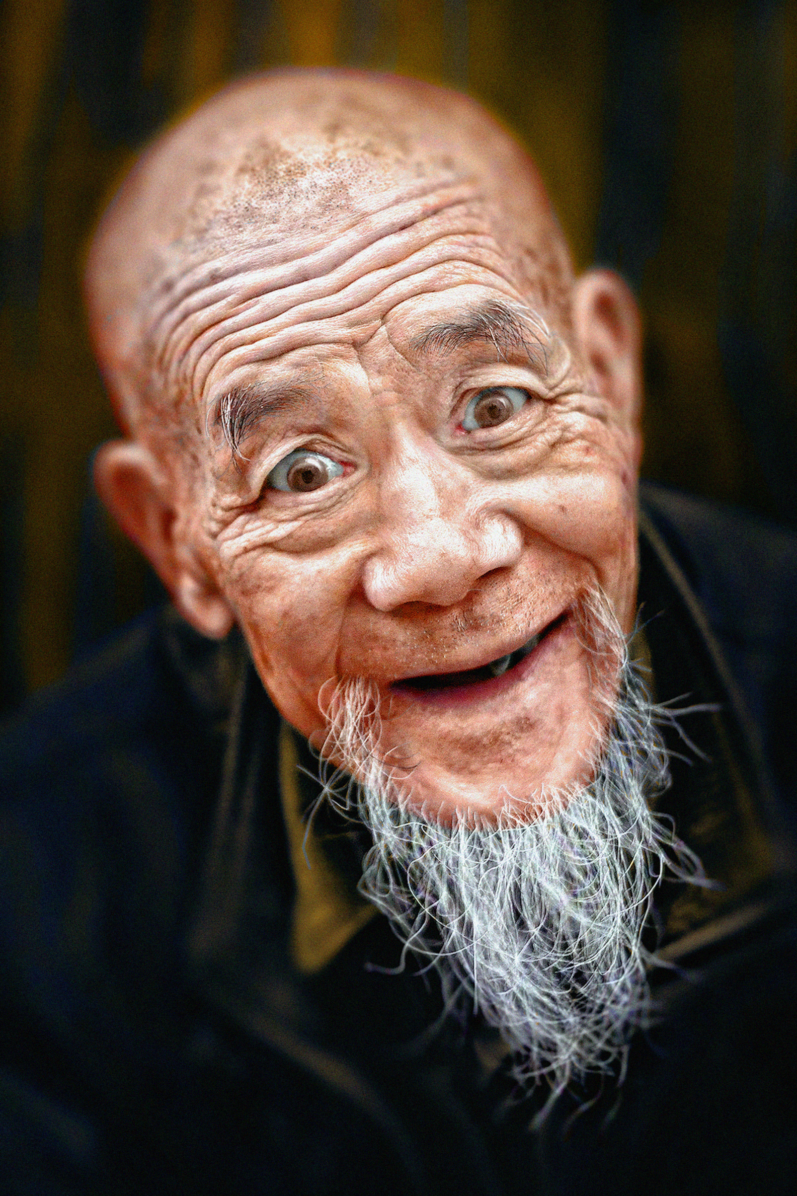 Portrait of an old Chinese man in Xinjing/China, March ...