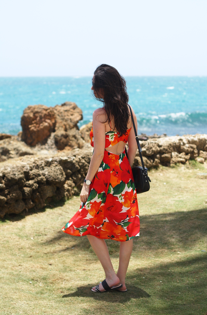 poppy print sundress in Condado, San Juan