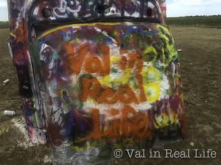 val in real life - cadillac ranch