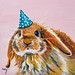 Bunny Painting by Megan Carty