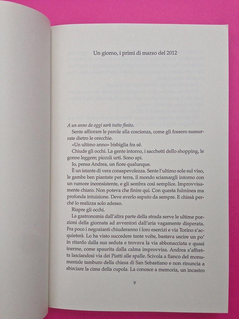 Alberto Milazzo, Uomini e insetti. Mondadori 2015. Art director Giacomo Callo; graphic designer Andrea Geremia. Incipit, a pag. 9 (part.), 1