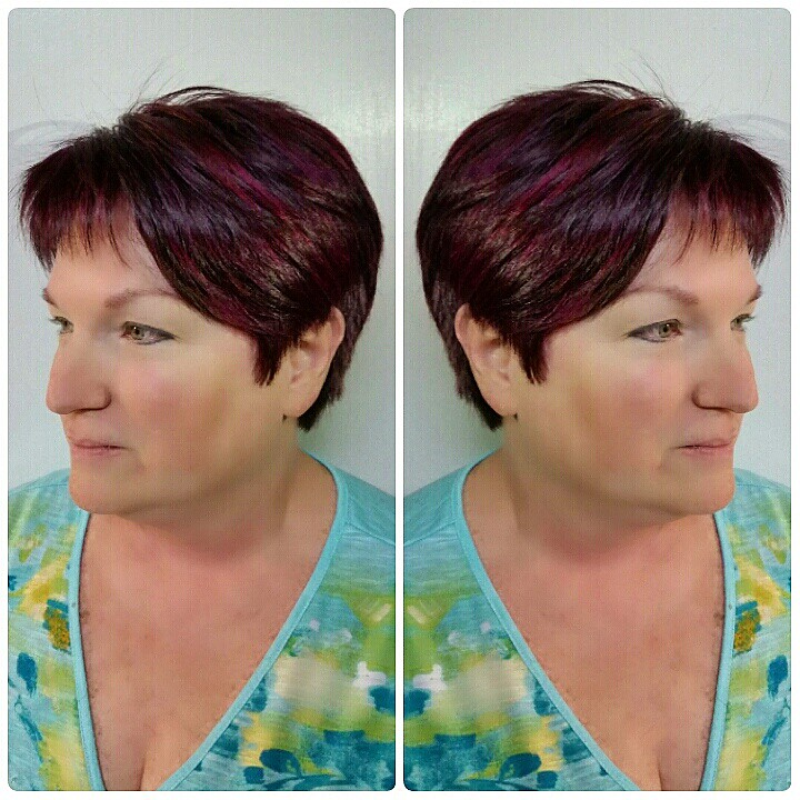 Fuchsia And Violet Micro Highlights On Pixie Haircut Flickr