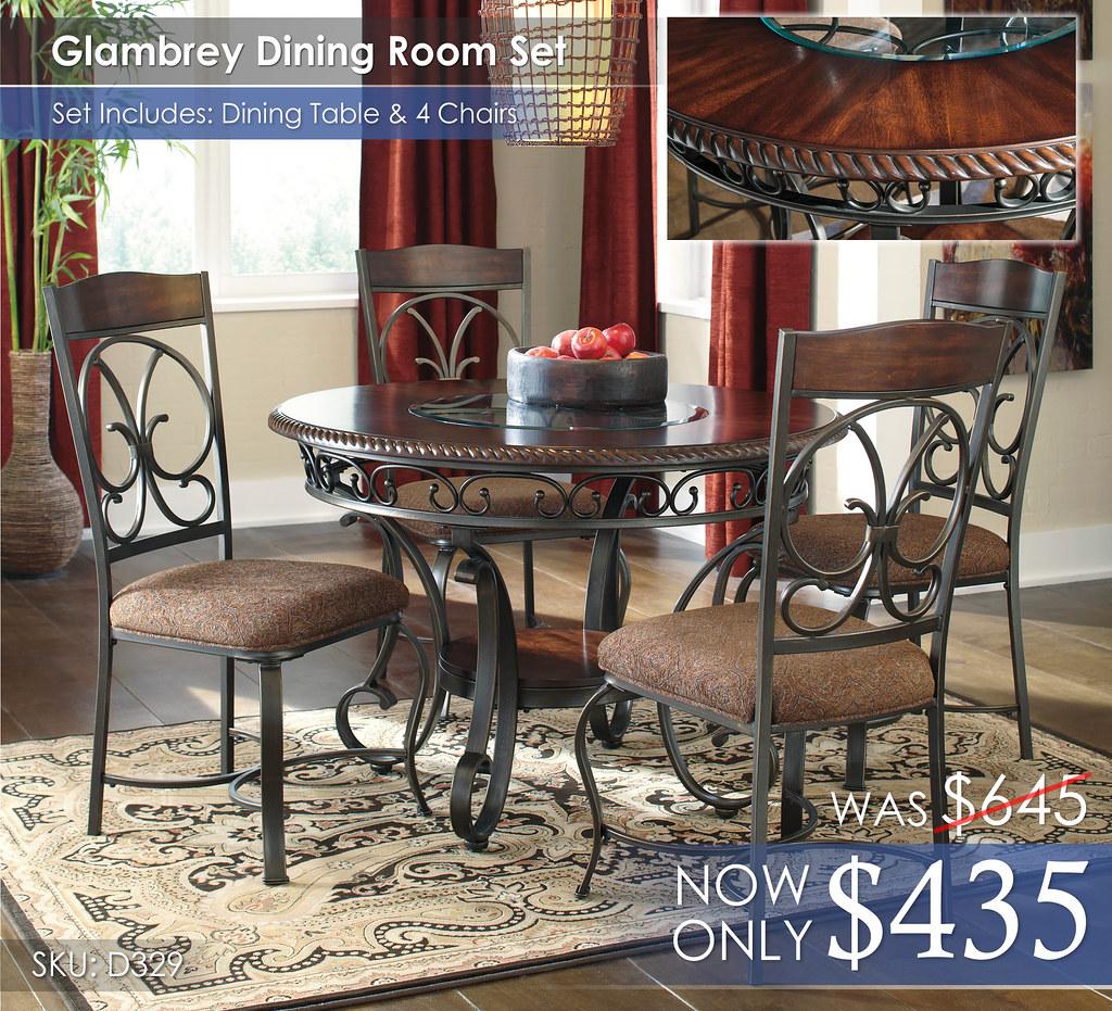 Glambrey Dining Room Set D329