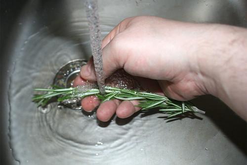 09 - Rosmarin waschen / Wash rosemary