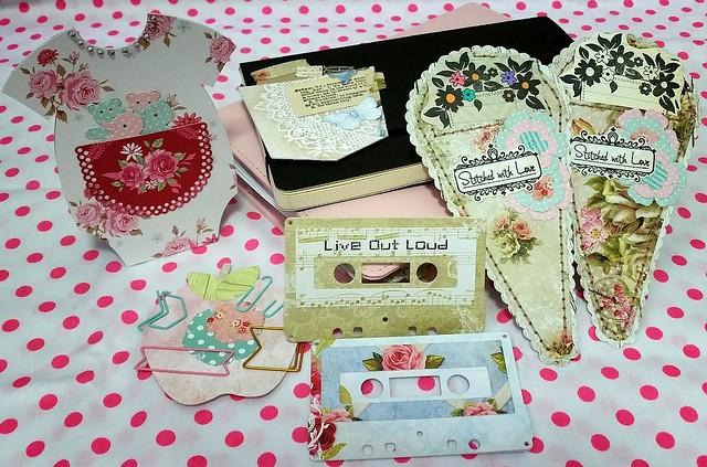 Die Cut Bookmarks/Pockets