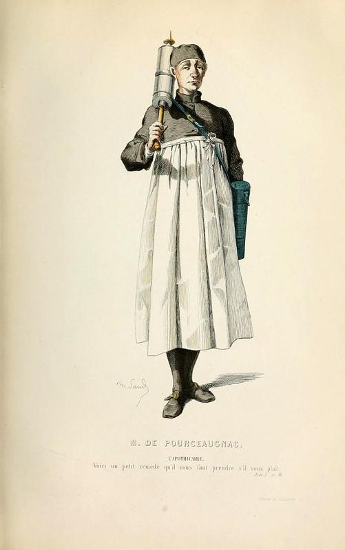 014-El señor de Pourceaugnac -Oeuvres completes ornee de portraits en pied colories…1871- Moliere